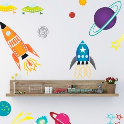 Spin Collective space wall sticker set