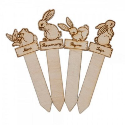 Belle & Boo wooden herb markers