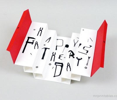 Mr Printables Tool Kit Father's Day card