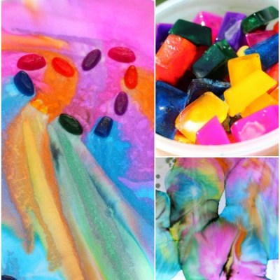 Make your own: Ice paint art