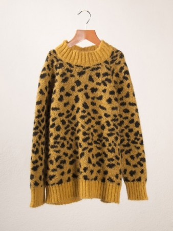 Mohair leopard sweater