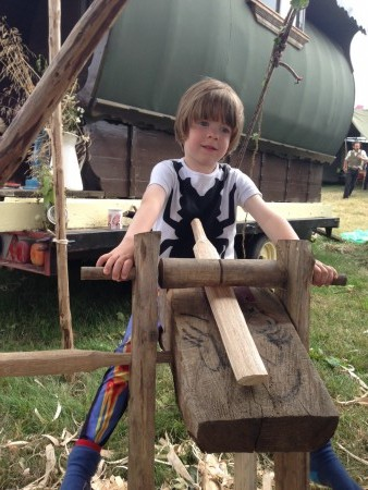 Making a sword at Spinney Hollow