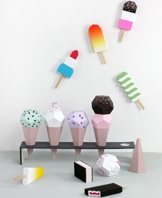 Paper ice cream printables