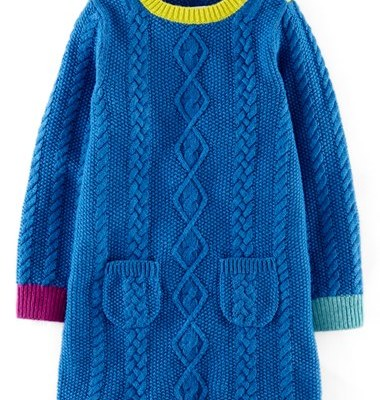 Hot on the high street: Boden cosy cable dress