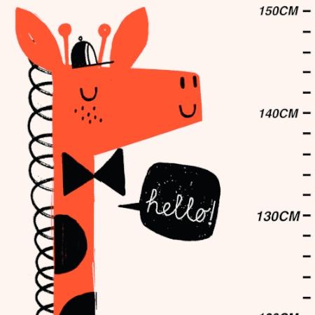 Corby Tindersticks giraffe height chart