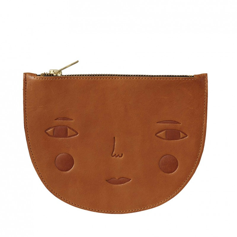 Goldie Leather Zip Pouch
