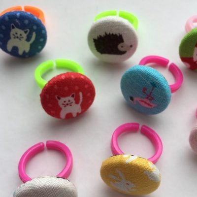 Mini button rings