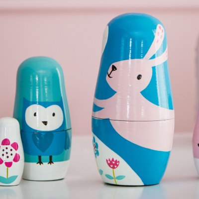 Rosa Rabbit Russian Dolls