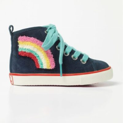 Current obsession: Rainbow hightops from Mini boden