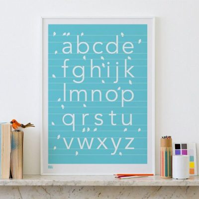 Hot Buy of the Day: Bold & Noble alphabet print