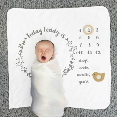 Baby's Age Botanical Blanket Set