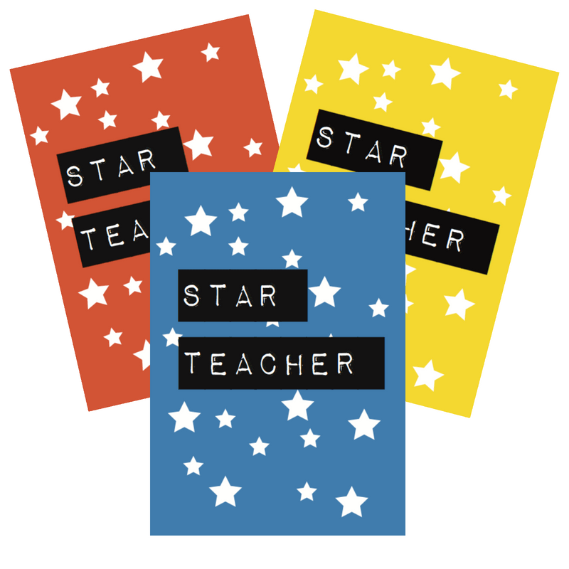 Star teacher card