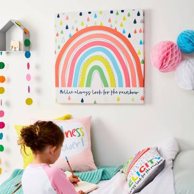 Tilliemint Rainbow Personalised Canvas