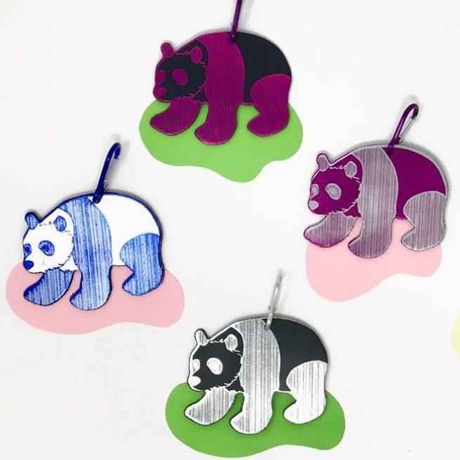 Panda Bag Tags, £6.50, Shop BG.