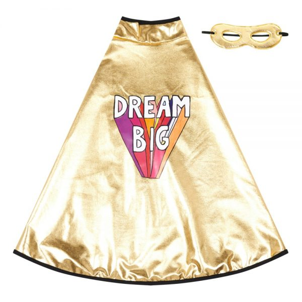 Great Pretenders X Smallable Gold Dream Big Cape and Mask, £35, Smallable.