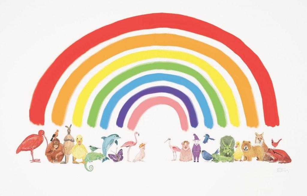 ANIMAL RAINBOW A3 PRINT