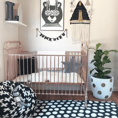 Covetable: Incy Interiors rose gold cot