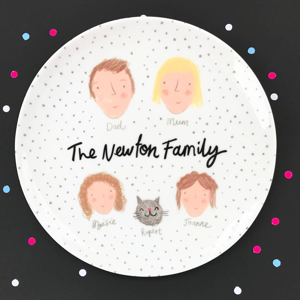 Dotty Family Plate, £35.99, Ethel & Co