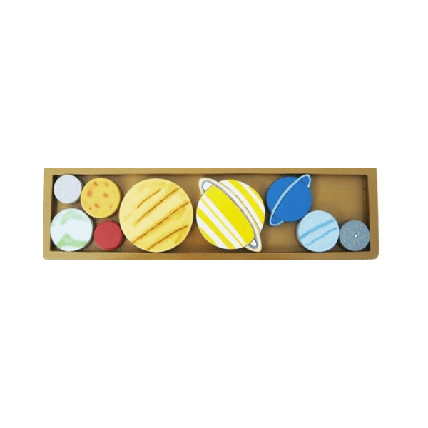 Wooden solar system planets tray, £18,99, Best Years.