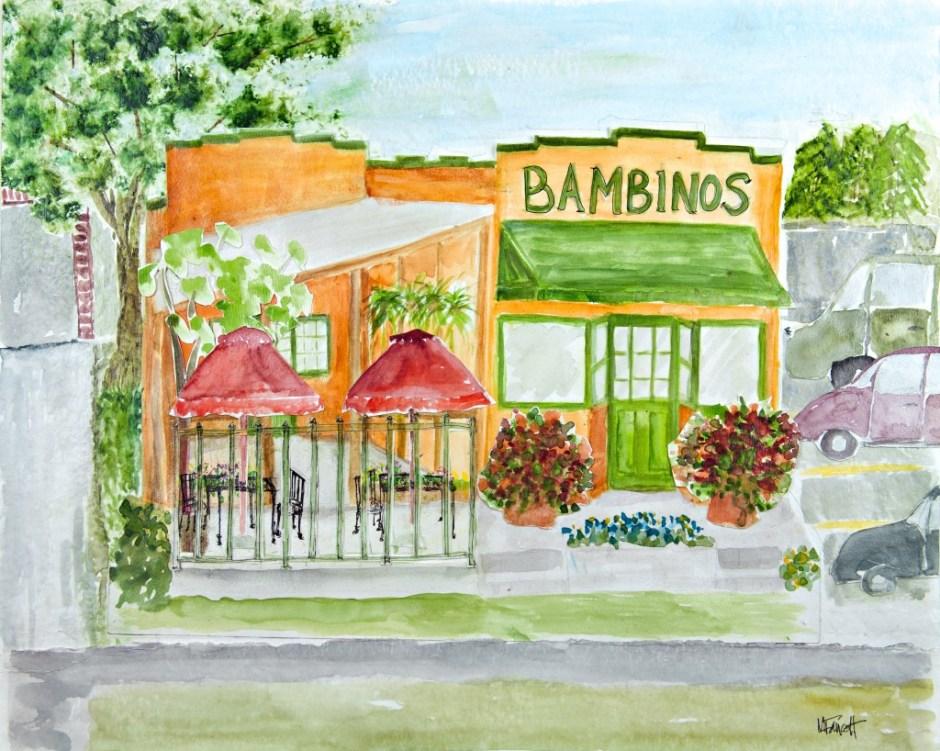 Bambinos Cafe Watercolor - Springfield MO Restaurant