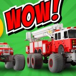 Fire Brigade S Monster Trucks Cartoon For Kids About Monster Fire Truck Monster Truck Videos For Kids Monster Trucks Educational Sartoon Video For Kids