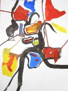 Abstract - aquarel