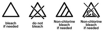Come usare la lavatrice - Simboli lavaggio - candeggio
