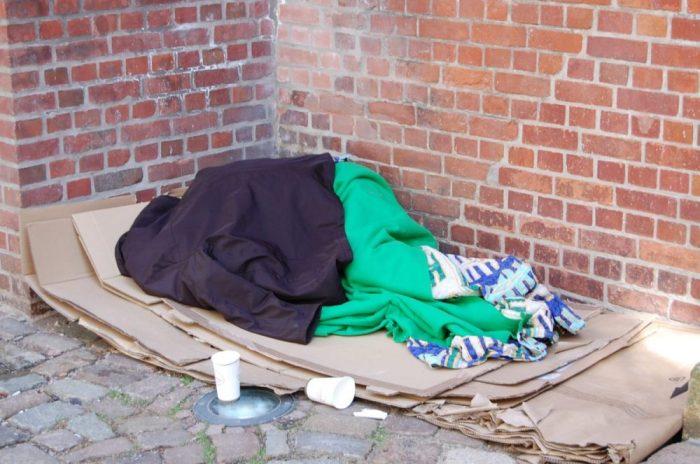 Obdachloser im Sommer