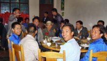 Essen in China am runden Tisch