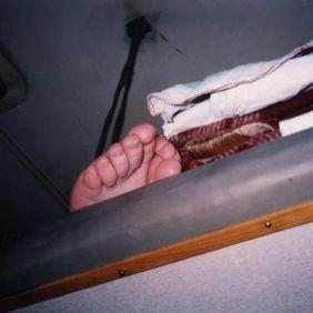 Hardsleeper - Blick aufs oberste Bett