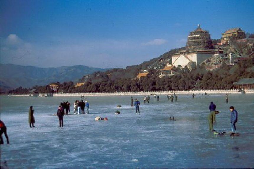 Der zugefrorene See beim Sommerpalast 1988