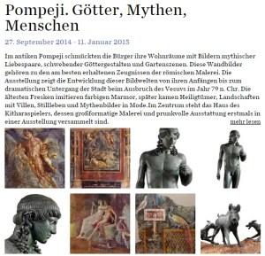 Ausstellung Pompeji im Bucerius Kunstforum. Screenshot