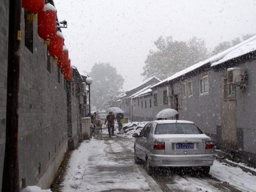 Schnee in den Hutongs