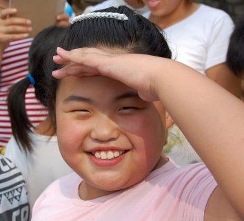 Chinesisch Lächeln - Kind in Shanxi