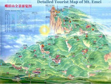 Emeishan Touristenkarte