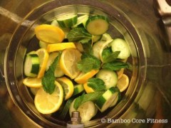 Cucumber, Mint And Lemon Water