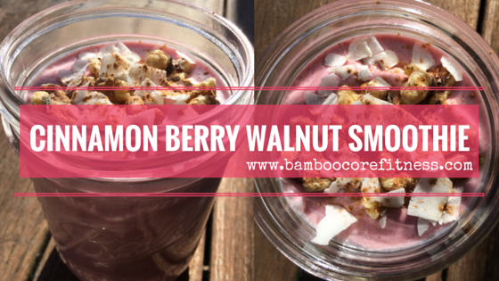 Decadent Cinnamon Berry And Walnut Smoothie