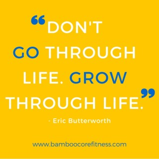 Don't go through life. Grow through life.