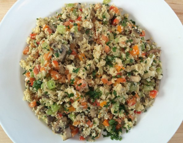 Paleo Cauliflower Fried Rice Dish1