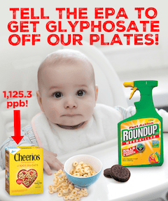 Ban Glyphosate: Tell EPA To Get Glyphosate Off Our Plates!