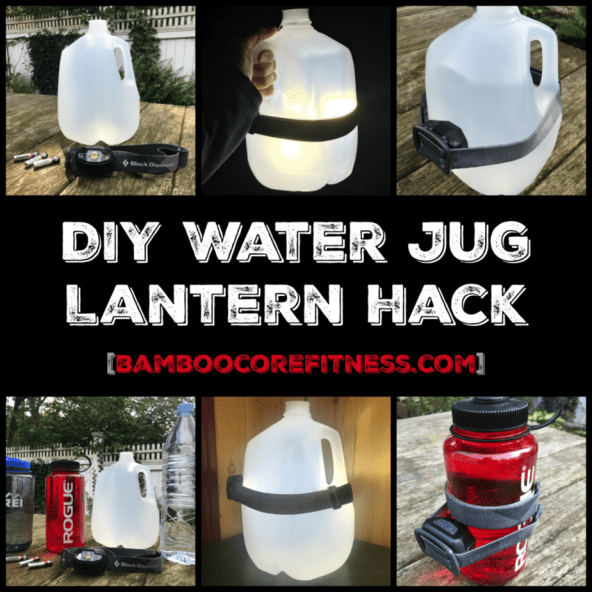 DIY Water Jug Lantern Hack by Bamboo Core Fitness