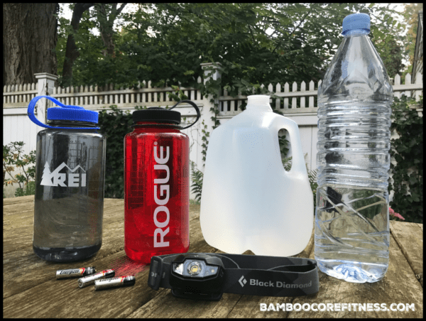 Nalgene and recycled Evian bottles make great lantern containers