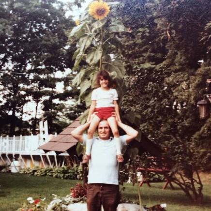 My father and me in the '80s