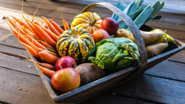 Seasonal fall produce