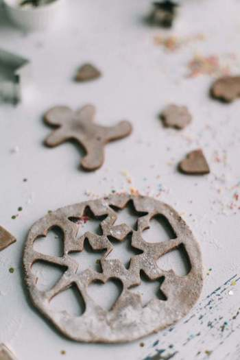 cookie cutters and gingerbread are like die cuts