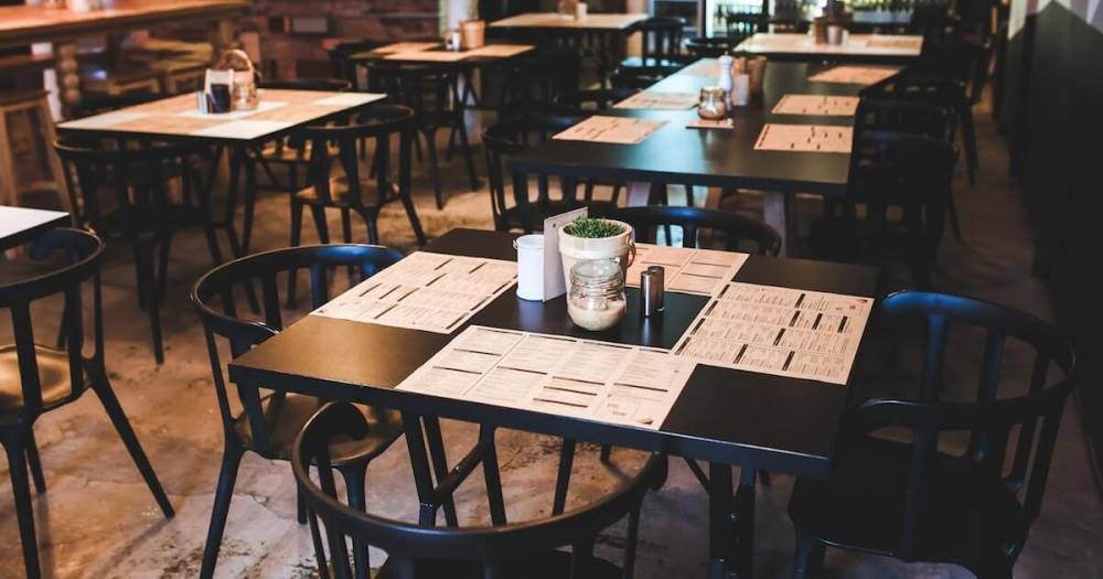 menus placed on cafe tables