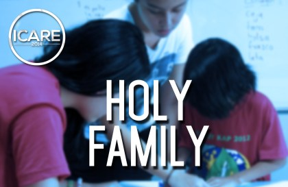 ICARE 2014_Holy Family_banner