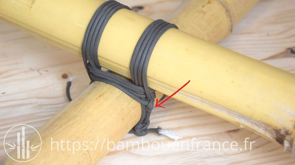 Assembler des bambous avec un brêlage: Etape 9