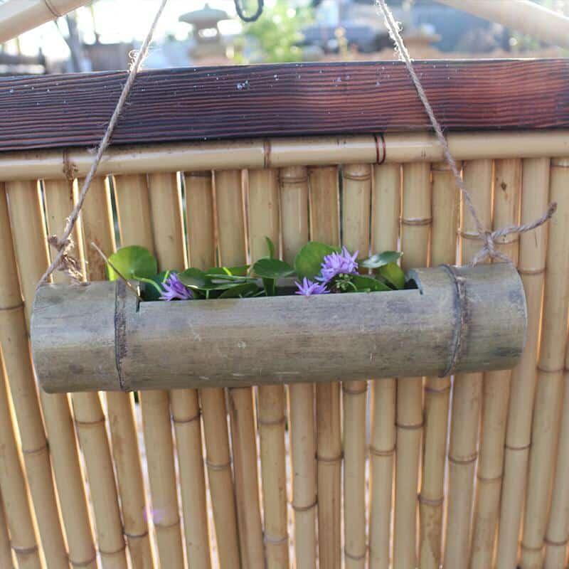 Utilisations des tiges de bambou sec
