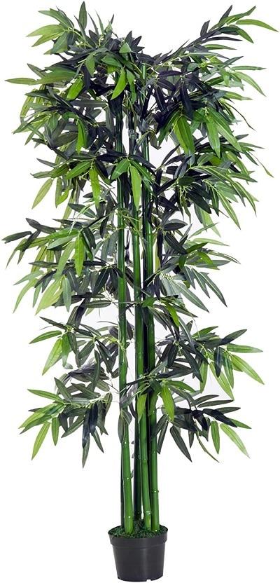 Bambou artificiel noir et vert